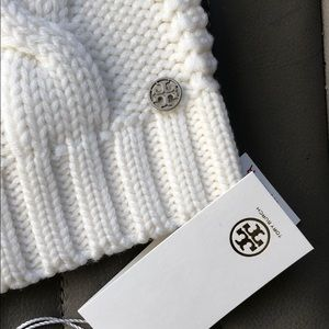 d3c5b25bf04 Tory Burch Accessories - Tory Burch White Beanie Hat